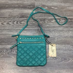 Handbags - •Like Dreams• Quilted Turquoise Crossbody